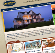 Advantage Homes Website