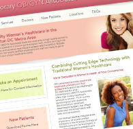 Contemporary OB/GYN Associates Website